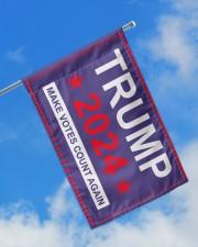"Trump 2024 make votes count again flag  11.5""x17.5"" Garden Flag aos-garden-flag-11-5-x-17-5-lifestyle-front-16"