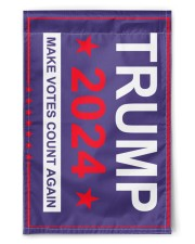 "Trump 2024 make votes count again flag  11.5""x17.5"" Garden Flag front"