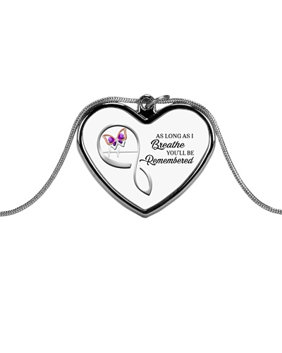 As Long As I Breathe You'll Remembered Necklace