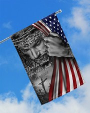 "Jesus Christian don't be afraid just have faith  11.5""x17.5"" Garden Flag aos-garden-flag-11-5-x-17-5-lifestyle-front-16"