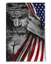 "Jesus Christian don't be afraid just have faith  11.5""x17.5"" Garden Flag front"