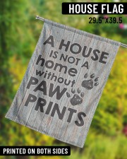 """A house is not a home without paw prints flag 29.5""""x39.5"""" House Flag aos-house-flag-29-5-x-39-5-ghosted-lifestyle-10"""
