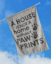 """A house is not a home without paw prints flag 29.5""""x39.5"""" House Flag aos-house-flag-29-5-x-39-5-ghosted-lifestyle-16"""