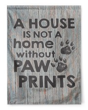 """A house is not a home without paw prints flag 29.5""""x39.5"""" House Flag front"""