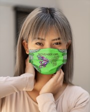 Butterfly november girl they whispered to her Cloth face mask aos-face-mask-lifestyle-18