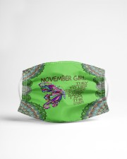Butterfly november girl they whispered to her Cloth face mask aos-face-mask-lifestyle-22