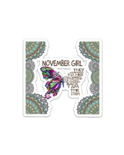 Butterfly november girl they whispered to her Sticker - Single (Horizontal) thumbnail