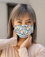 Autism teacher in a world where you can be  Cloth face mask aos-face-mask-lifestyle-18
