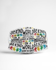 Autism teacher in a world where you can be  Cloth face mask aos-face-mask-lifestyle-22