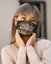Cover your nose too dumbass face mask Cloth face mask aos-face-mask-lifestyle-17