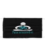 Namaste cloth face mask Cloth face mask front