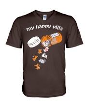 My Happy Pills V-Neck T-Shirt thumbnail
