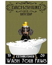 Dachshund Bath Soap Wash Your Paws 11x17 Poster front