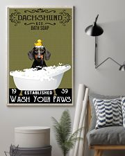 Dachshund Bath Soap Wash Your Paws 11x17 Poster lifestyle-poster-1