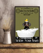 Dachshund Bath Soap Wash Your Paws 11x17 Poster lifestyle-poster-3