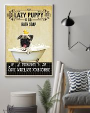 Lazy Puppy Bath Soap Save Water Use Your Tongue 11x17 Poster lifestyle-poster-1