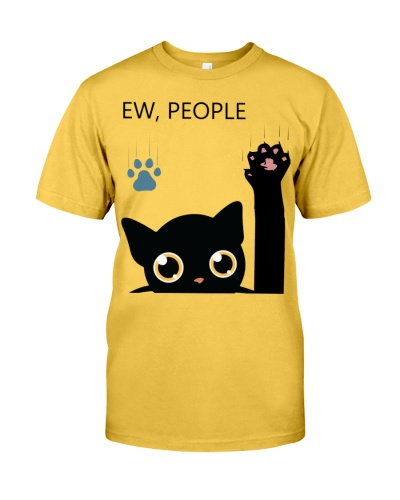 Ew People Black Cat Lover Funny Gift