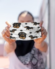 Dachshund Group Face Mask Cloth face mask aos-face-mask-lifestyle-07