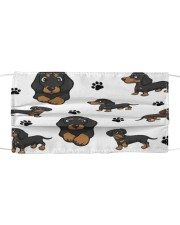 Dachshund Group Face Mask Cloth face mask front
