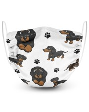 Dachshund Group Face Mask 2 Layer Face Mask - Single thumbnail