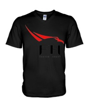 SpaceX Falcon Heavy 5 V-Neck T-Shirt tile