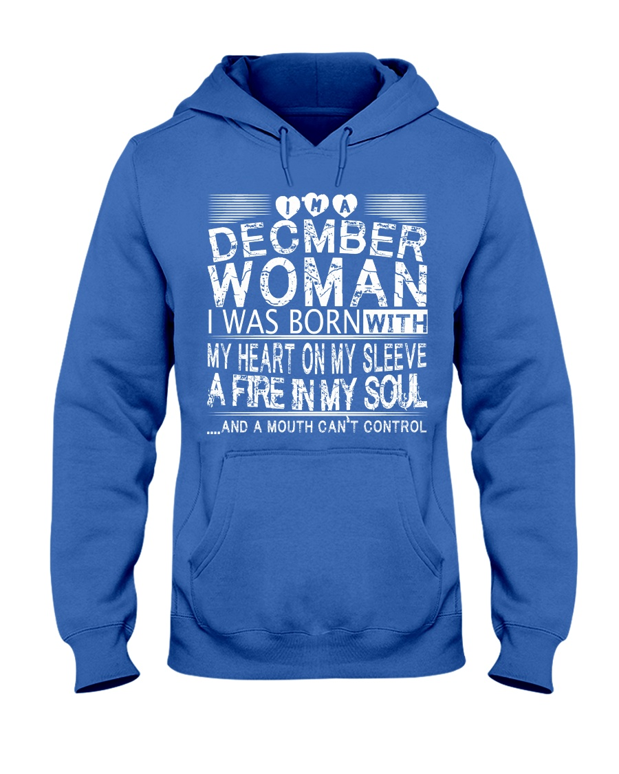 December Woman T Shirt Hooded Sweatshirt