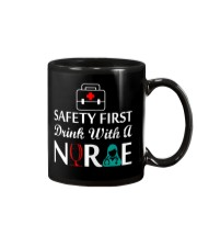 Safety First Drink With Nurse Tshirt Mug thumbnail