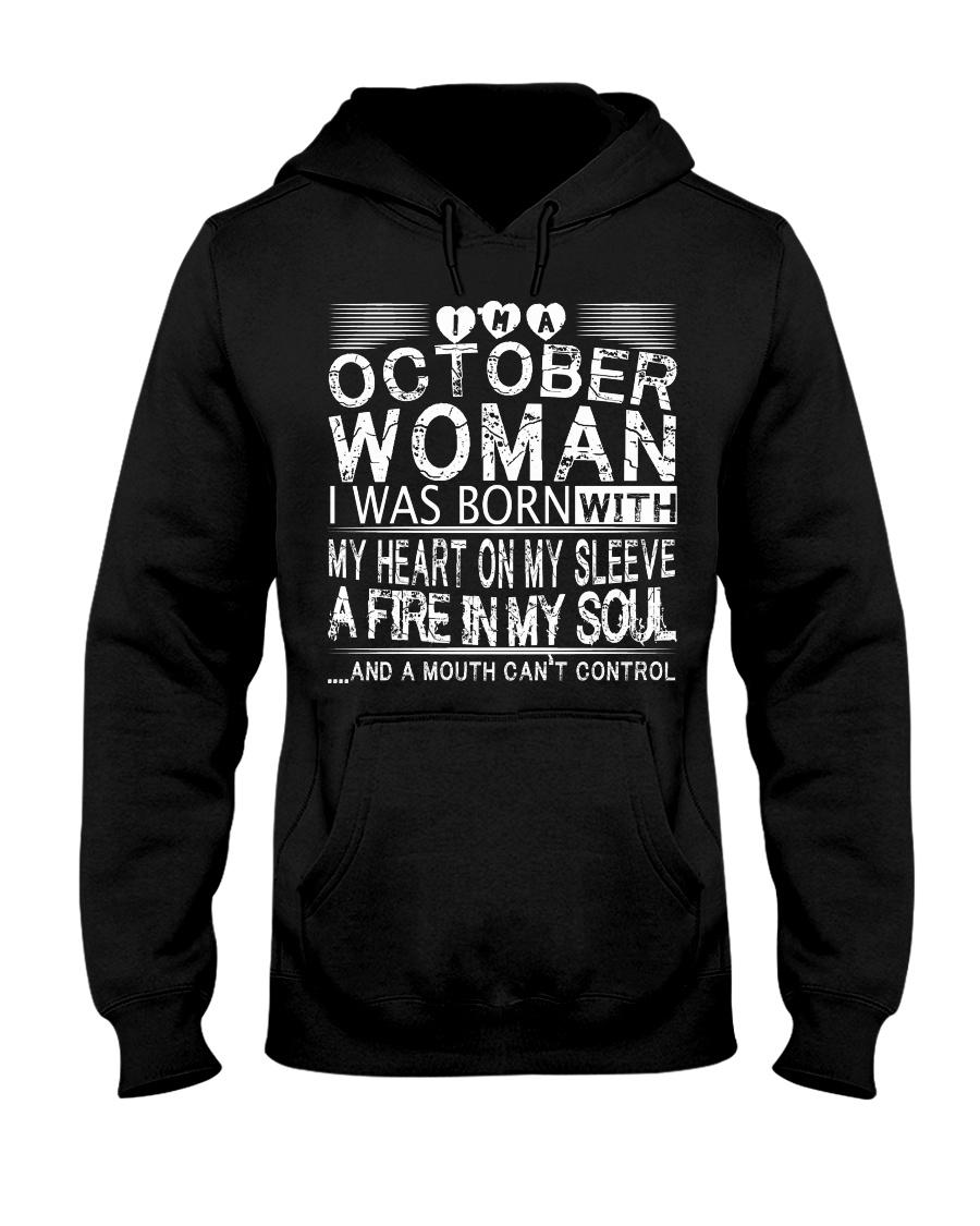 October Woman T Shirt Hooded Sweatshirt