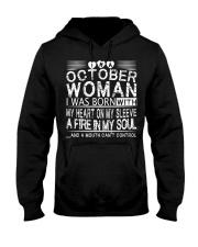 October Woman T Shirt Hooded Sweatshirt front