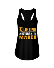 Queens Are Born In March T Shirts Ladies Flowy Tank thumbnail