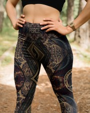 Peace Hippie Legging High Waist Leggings aos-high-waist-leggings-lifestyle-22