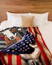 "FARM USA Large Fleece Blanket - 60"" x 80"" aos-coral-fleece-blanket-60x80-lifestyle-front-02"