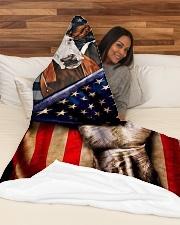 "FARM USA Large Fleece Blanket - 60"" x 80"" aos-coral-fleece-blanket-60x80-lifestyle-front-03"