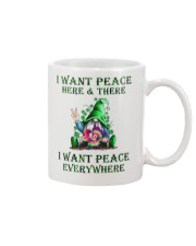 I WANT PEACE EVERYWHERE Mug tile