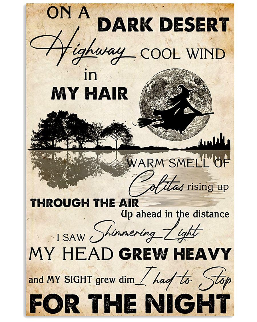 HIPPIE ON A DARK DESERT 11x17 Poster