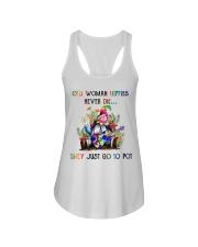 OLD WOMAN HIPPIES NEVER DIE Ladies Flowy Tank thumbnail