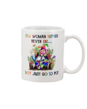 OLD WOMAN HIPPIES NEVER DIE Mug thumbnail