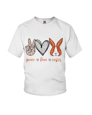PEACE LOVE EASTER Youth T-Shirt thumbnail