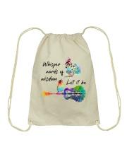 Whisper words of wisdom - Let it be Drawstring Bag thumbnail