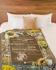 "BLANKET TO MY WIFE I LOVE YOU Large Fleece Blanket - 60"" x 80"" aos-coral-fleece-blanket-60x80-lifestyle-front-02"