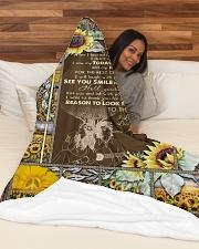 "BLANKET TO MY WIFE I LOVE YOU Large Fleece Blanket - 60"" x 80"" aos-coral-fleece-blanket-60x80-lifestyle-front-03"