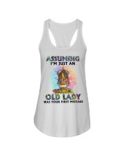 OLD LADY WAS YOUR FIRST MISTAKE Ladies Flowy Tank thumbnail