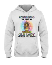 OLD LADY WAS YOUR FIRST MISTAKE Hooded Sweatshirt thumbnail