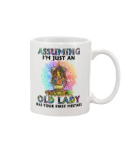 OLD LADY WAS YOUR FIRST MISTAKE Mug thumbnail