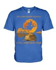 Hippie Hotel California Lyrics V-Neck T-Shirt front