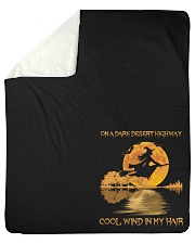"Hippie Hotel California Lyrics Sherpa Fleece Blanket - 50"" x 60"" thumbnail"