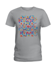 PEACE LOVE AND MORE LOVE  Ladies T-Shirt thumbnail