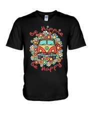 BE HIPPIE BE HAPPY V-Neck T-Shirt thumbnail