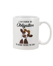 I AM UNDER NO OBLIGATION Mug thumbnail