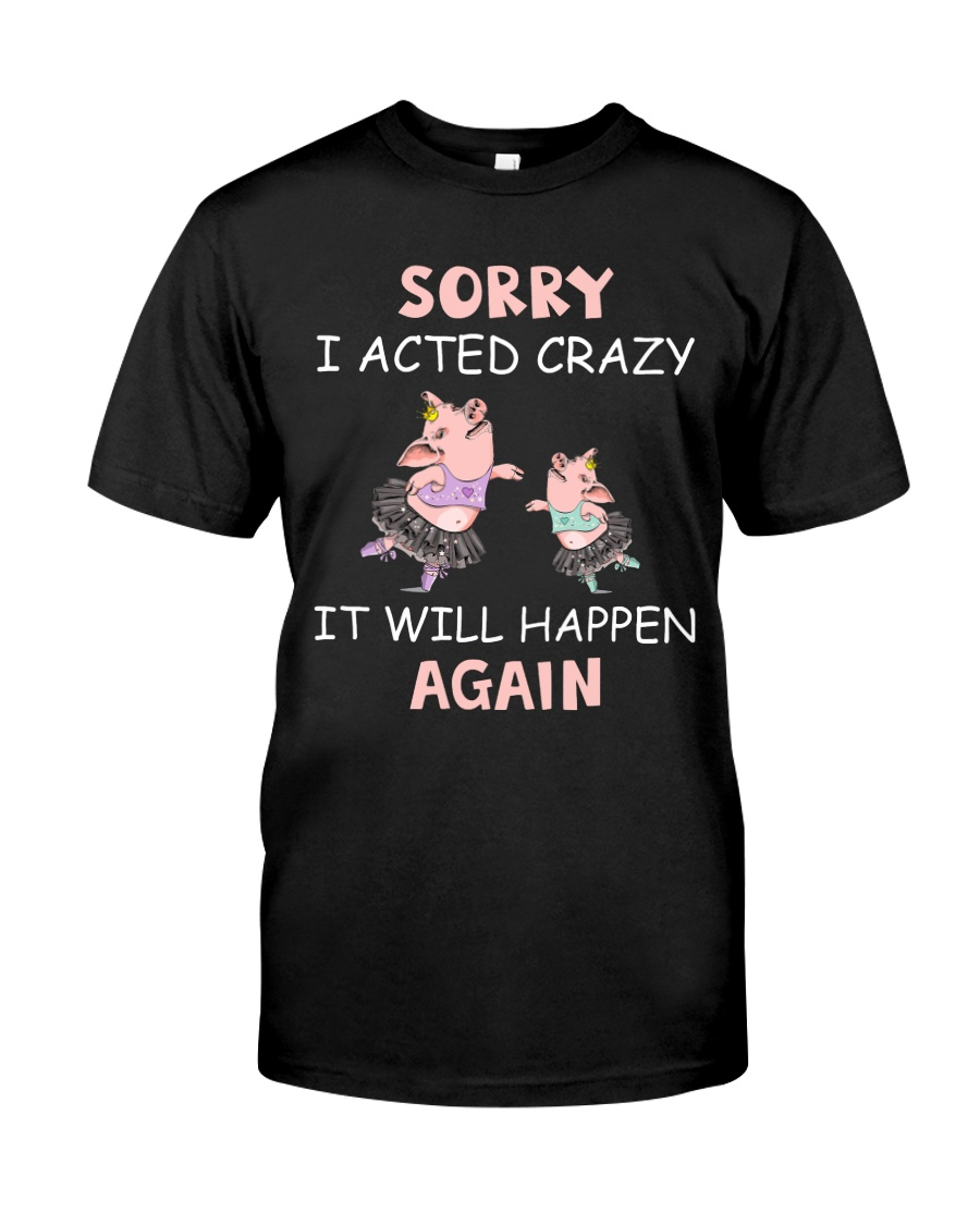 SORRY I ACTED CRAZY Classic T-Shirt
